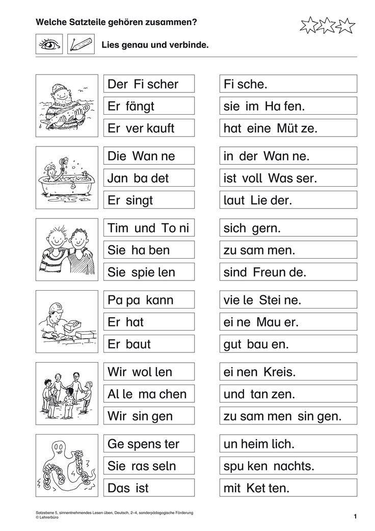 pin von yonca auf schule lesen ben lese bungen und deutsch lernen. Black Bedroom Furniture Sets. Home Design Ideas