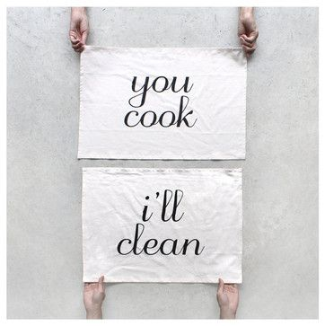 You Cook, I'll Clean Dishtowels #anthrofave