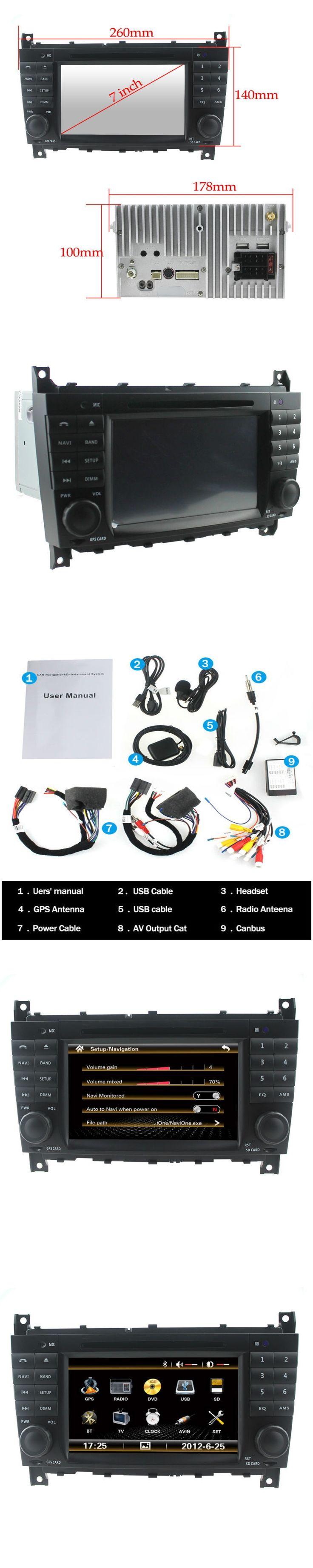 For HD Car DVD for Mercedes C Class W203 2004-2007 c200 C230 C240 C320 C350 CLK W209 2005 headunit GPS Radio Steering wheel 3G