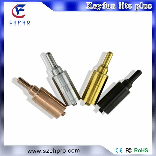 ehpro kayfun lite plus wholesale  1.style:rba atomizer  2.color:black/gold/SS  3.material:stainless steel&PC