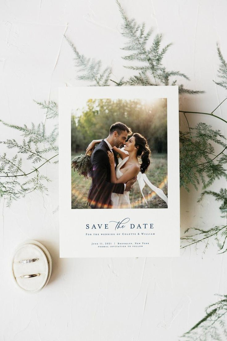 Rustic Wedding Save The Date Winter