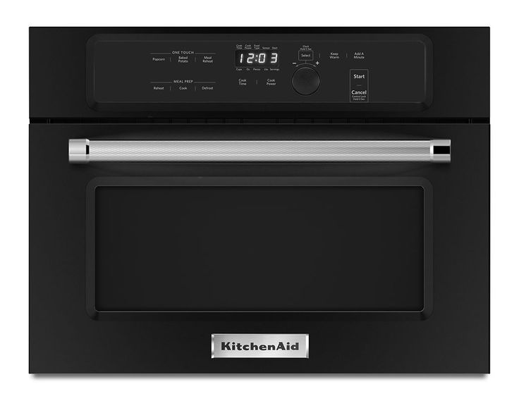 KitchenAid KMBS104E 24 Inch Wide 1.4 Cu. Ft. Built-In Microwave with 1000W Cooki Black Microwave Ovens Microwave Built-In