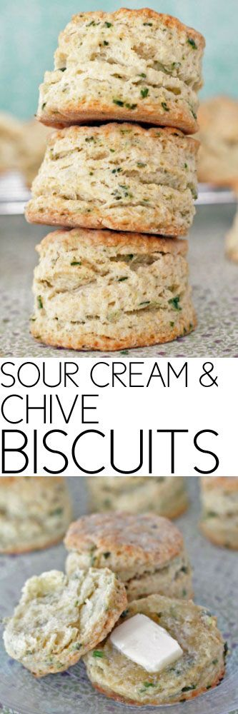 Sour Cream and Chive Biscuits #biscuits #sides #easybiscuits