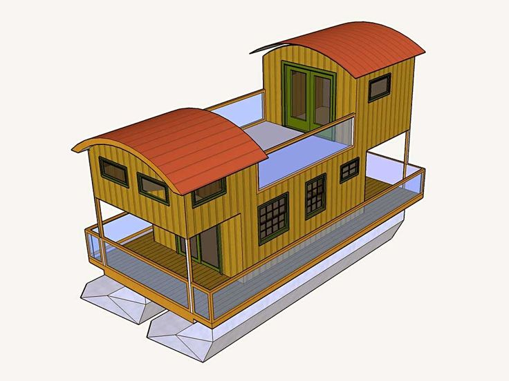 shanty boats | Shanty Boat, a floating tiny house.