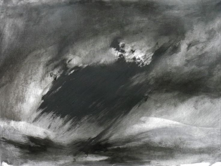 Abstraction in Monochrome 'Light I the darkness 6 oil on paper 102 x 85 cms