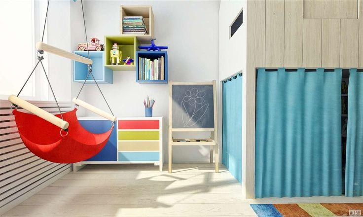 Красочный дизайн интерьера детской