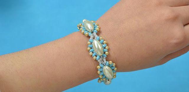 [BISUTERIA MANUALIDADES✄]DIY... Pulsera de abalorios con perlas y semillas: