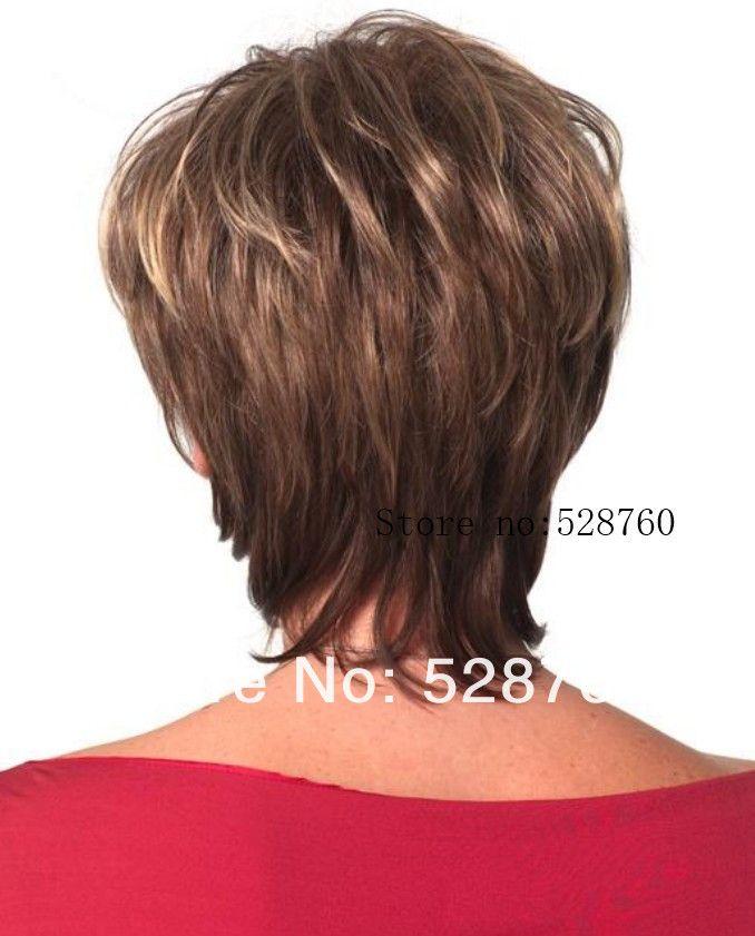 Женщины коричневый и пепел блонд смешать парик короткая прямой волосы круто устойчивых волокно купить на AliExpress