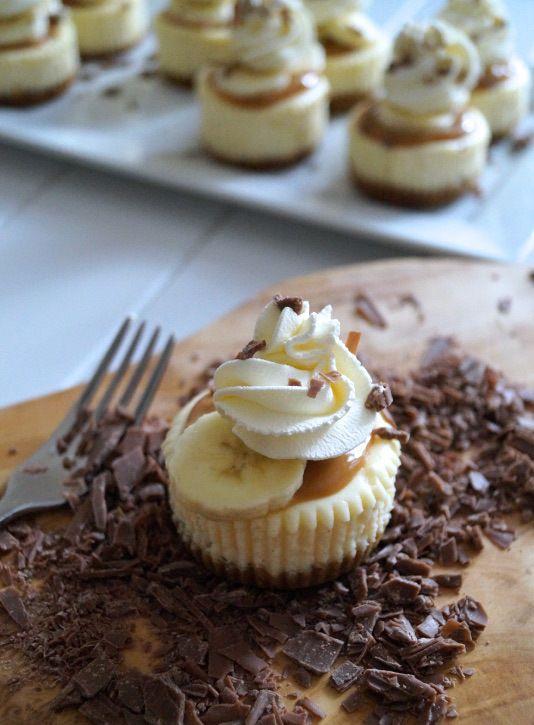 banoffee pie cheesecake minis