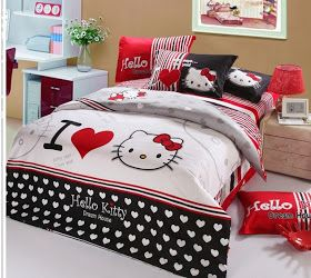 HELLO KITTY LIMITED: I LOVE HELLO KITTY BED SET