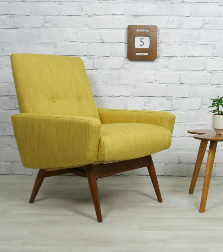 mid century danish style armchair chair 50s 60s 120944637995 pt uk