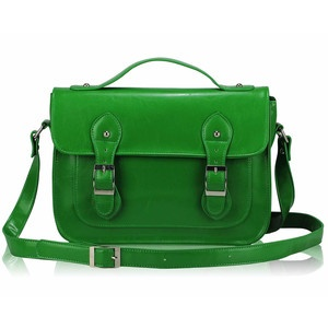 Retro Style Satchel Green, £60, now featured on Fab.