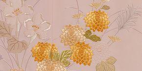 美術友禅山之内訪問着『重陽の彩り』(日本刺繍工程)伝統的工芸品加賀繍