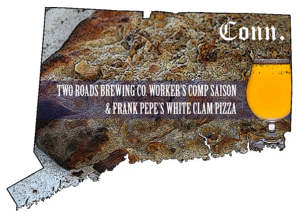 50 States of Beer: Connecticut beer with a Pepe's pizza