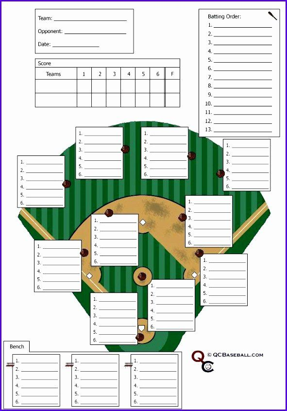 Baseball Depth Chart Template Excel Fresh 12 Baseball Lineup Excel Template Exceltemplates Depth Chart School Newsletter Template Free Card Template