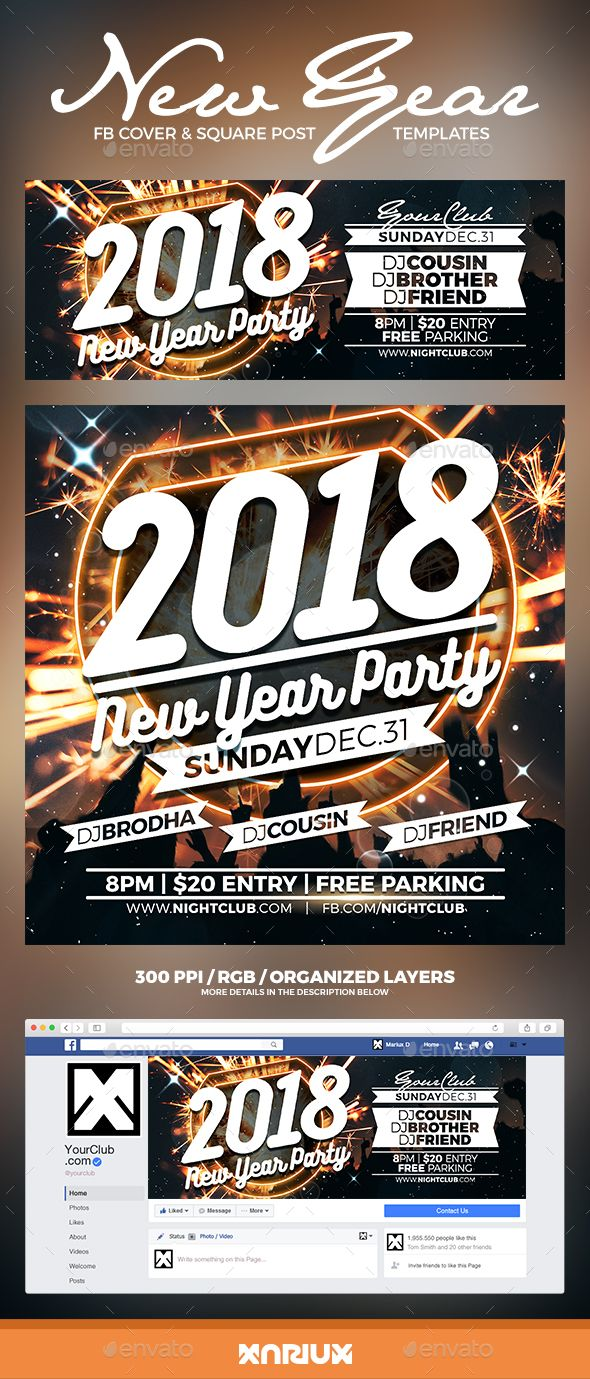 #New Year Party #Facebook Cover - #Social Media Web Elements