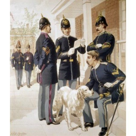 Non-Commissioned Officers from Staff Corps by Henry Alexander Ogden (1856-1936) Canvas Art - Henry Alexander Ogden (24 x 36)