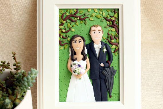 Custom wedding portrait personalized wedding gift custom