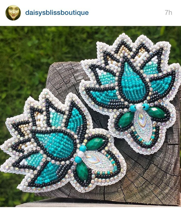 Beaded earrings- Just beautiful, love the colours and use of other sized beads.