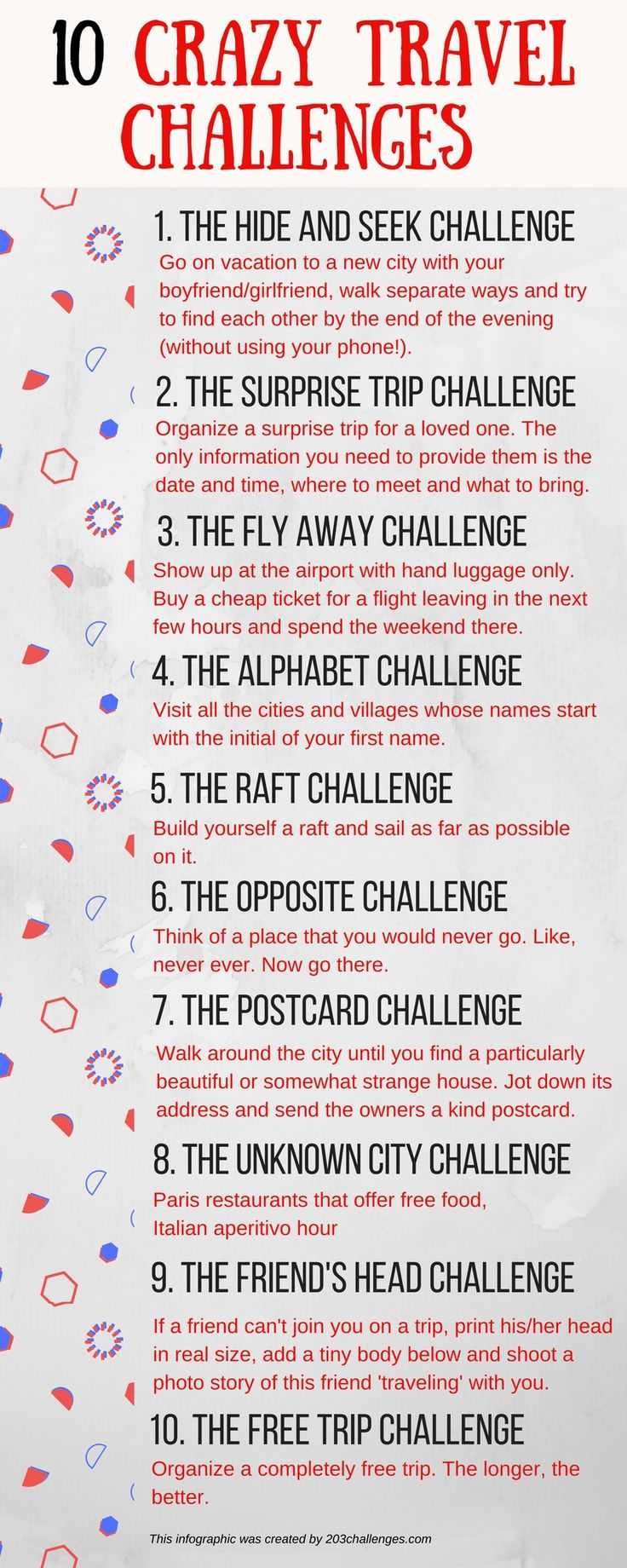 A 10 crazy travel challenges list for the wild-spirited | 203Challenges