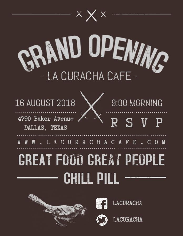 vintage restaurant cafe grand opening poster flyer template grand