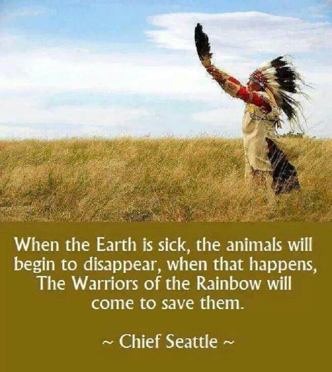 Warriors Of The Rainbow Tribe: Chief Seattle...the Earth Is Sick,,,