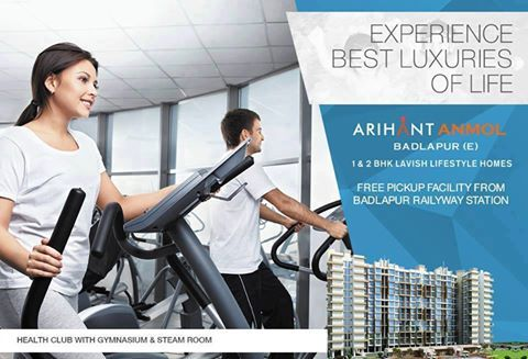 Arihant Anmol - Badlapur East 1 & 2 BHK Lavish Lifestyle Homes Health Club with Gymnasium & Steam Room http://www.asl.net.in/arihant-anmol.html #ArihantAnmol #RealEstate #Property #Badlapur #Mumbai