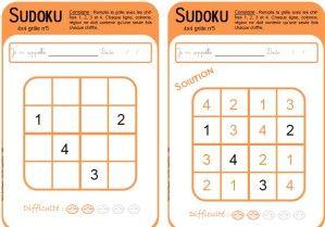 Voici des grilles de Sukoku que vous pouvez télécharger sur le site : http://melospawn.free.fr/ 81 fiches de niveaux variés permettant d'utiliser le sudoku du cycle 1 au cycle 3. Il y a des sudoku 4x4; 6x6; 9x9 avec leurs solutions ainsi que des grilles...