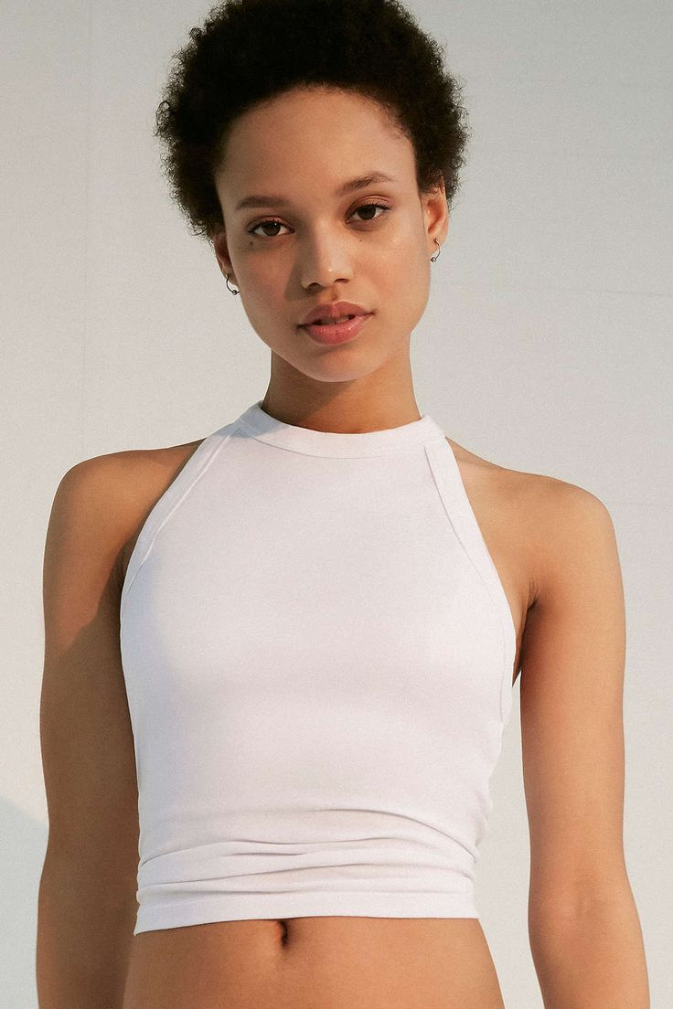 Truly Madly Deeply Fitted Cropped Tank Top - Urban Outfitters
