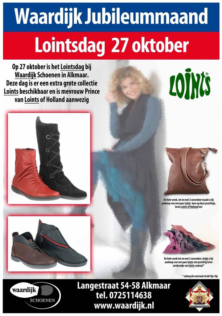 27 oktober is het Lointsdag bij Waardijk Schoenen en Alkmaar. Deze dag is er een extra grote collectie Loints of Holland beschikbaar en is er iemand van Loints of Holland aanwezig.    Waardijk Schoenen, Langestraat 54-58 Alkmaar    www.waardijk.nl