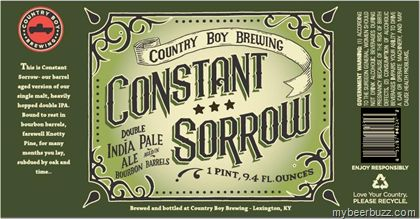 mybeerbuzz.com - Bringing Good Beers & Good People Together...: Country Boy Brewing - Constant Sorrow Double IPA