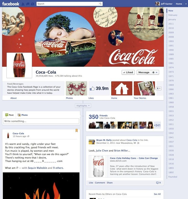 The timeline has proven a better structure for brands, it is a way to view their history and their story, also the cover picture is a great way to grasp the consumers attention.