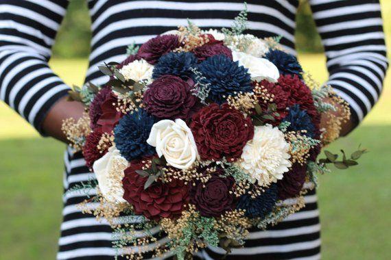 Fall Wedding Fall Bouquet Winter Bouquet Wedding Bouquet Sola