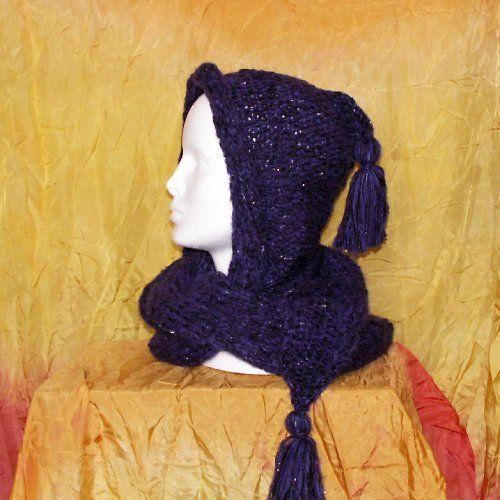 kapuco šála - melír  fialová s černou
