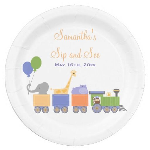 Animals On A Train Sip and See 9 Inch Paper Plate  sc 1 st  Pinterest & 231 best Paper Plates images on Pinterest | Paper plates Lyrics and ...