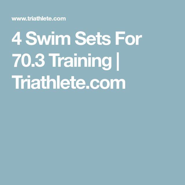 4 Swim Sets For 70.3 Training | Triathlete.com