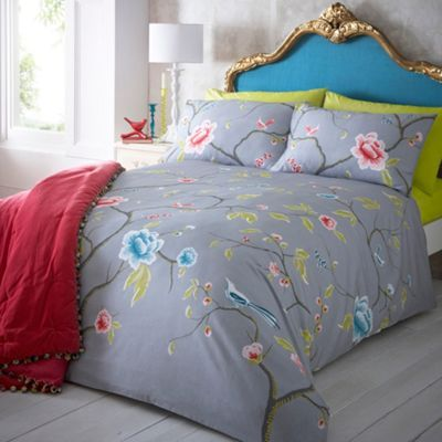 Butterfly Home By Matthew Williamson Designer Grey 39 Chinoise 39 Bedding Set At