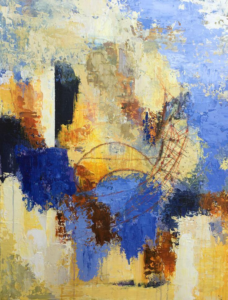 Abstrakt akrylmaleri. Se mere på http://Facebook.com/livetsgalleri