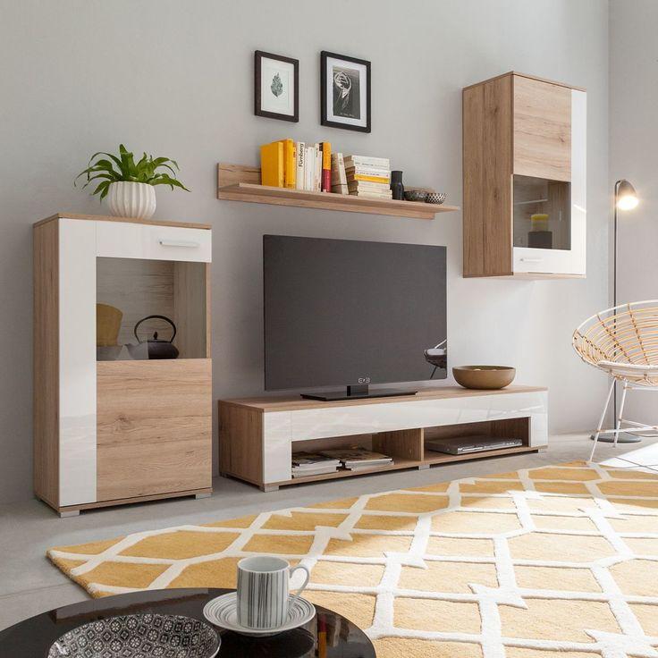 Πάνω από 25 κορυφαίες ιδέες για Wohnwand weiß eiche στο Pinterest - wohnzimmer beige wei