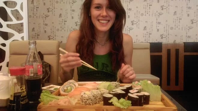sushi na tanieri, sushi v duši :)