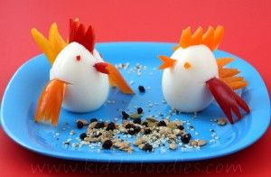 Little chicks, healthy food for kids snack from an egg- Kiddie Foodies