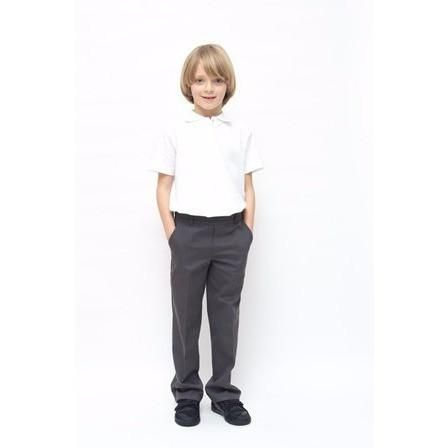 Boys Classic Fit Pure Cotton School Trousers