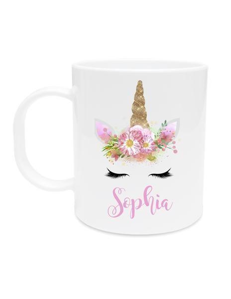 unicorn kid's mug unbreakable personalized