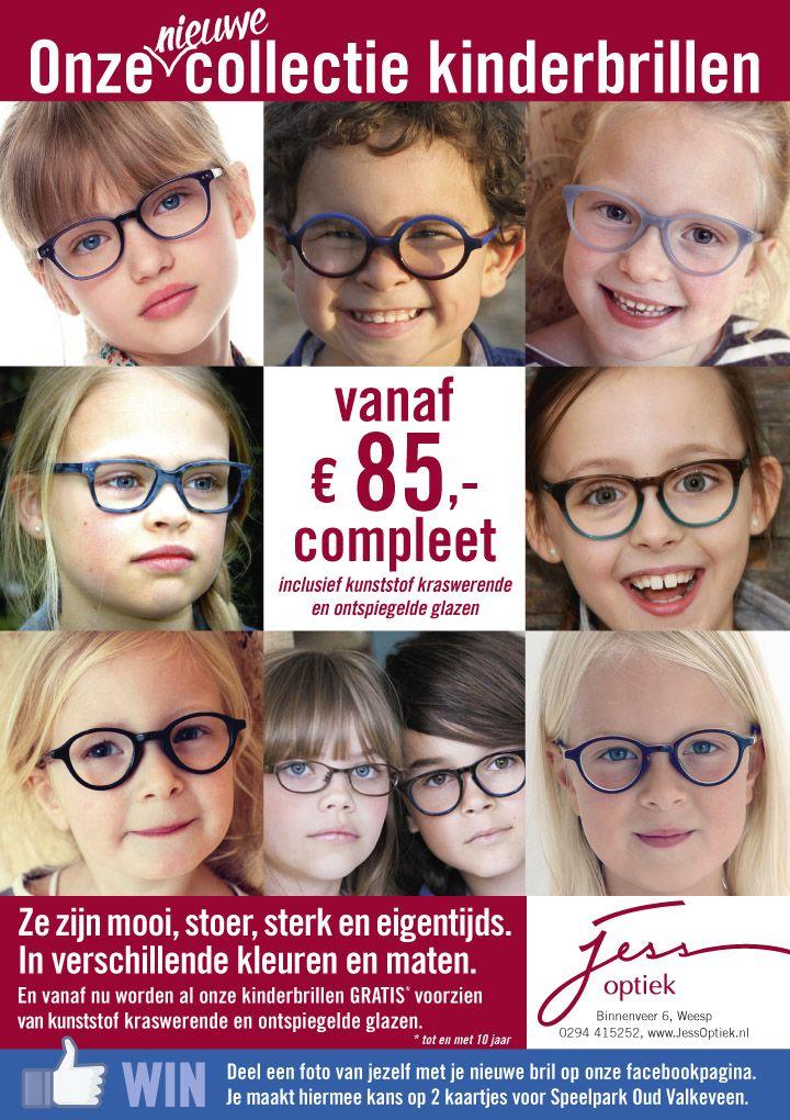 Kinderenbrillen advertentie ontwerp voor #JessOptiek te #weesp by #designer  #JochemAlbrecht van #ReclamebureauHolland.  #Reclamebureaus from #TheNetherlands