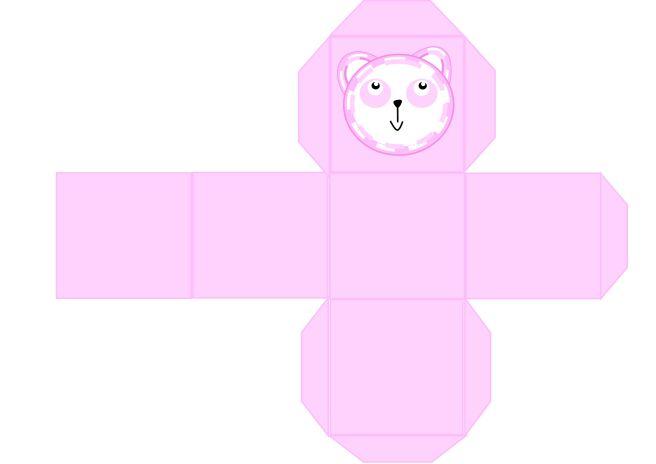 Mal til eske rosa - bordkort