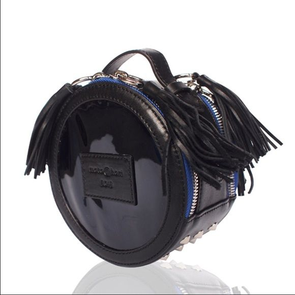 Marta Hari x BOTB round holographic purse Long strap round holographic purse with detachable strap. Fringe tassels included. Like new! BOTB Bags Crossbody Bags