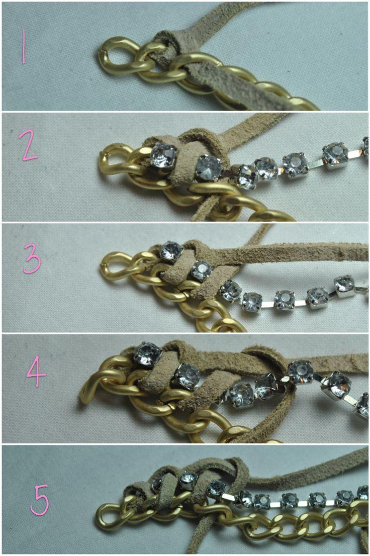 DIY: Leather & Chain Bracelet