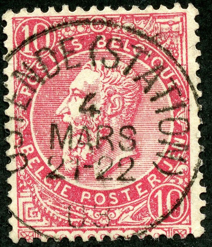"""Belgium 1900 Scott 66 10c bright rose """"Leopold"""""""