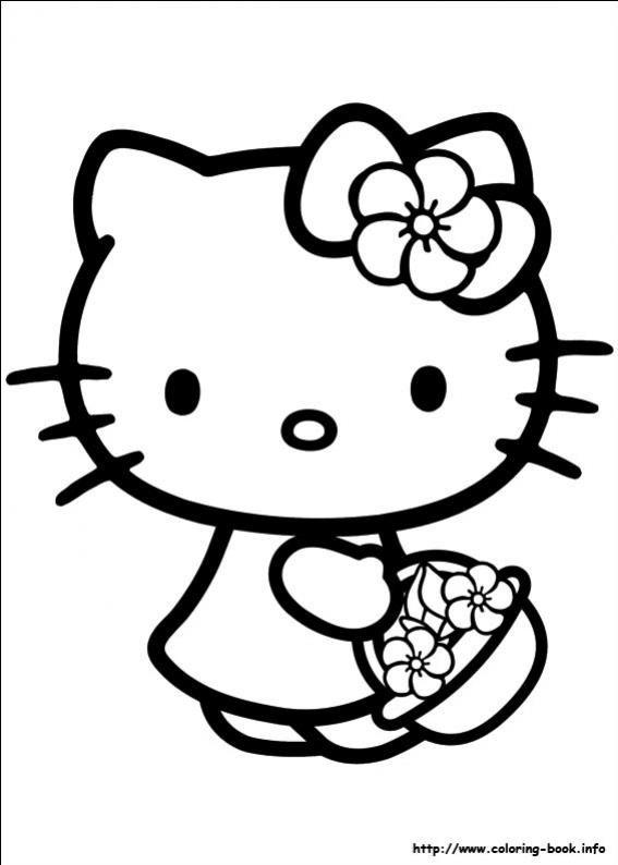 ภาพวาดระบายส เฮลโลค ตต 15 Immagini Hello Kitty Compleanno Hello Kitty Libri Da Colorare