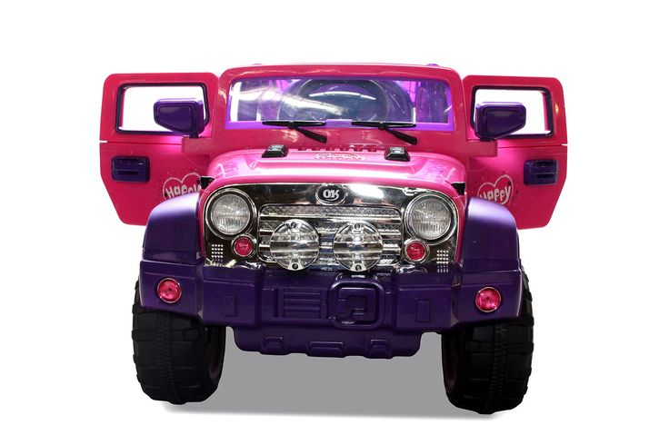 Coche infantil 12V RC Jeep Wrangler Style 12V rosa, IndalChess.com Tienda de juguetes online y juegos de jardin